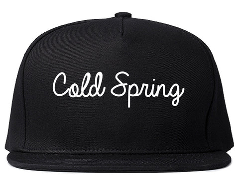 Cold Spring Kentucky KY Script Mens Snapback Hat Black
