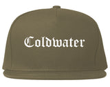 Coldwater Michigan MI Old English Mens Snapback Hat Grey