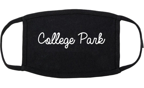 College Park Georgia GA Script Cotton Face Mask Black