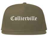 Collierville Tennessee TN Old English Mens Snapback Hat Grey