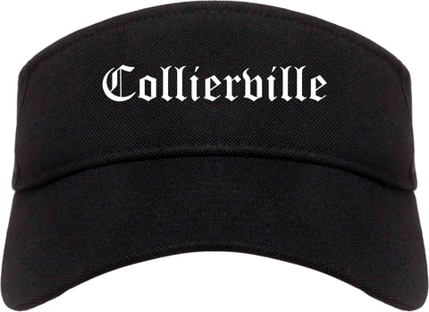 Collierville Tennessee TN Old English Mens Visor Cap Hat Black
