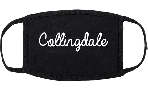 Collingdale Pennsylvania PA Script Cotton Face Mask Black