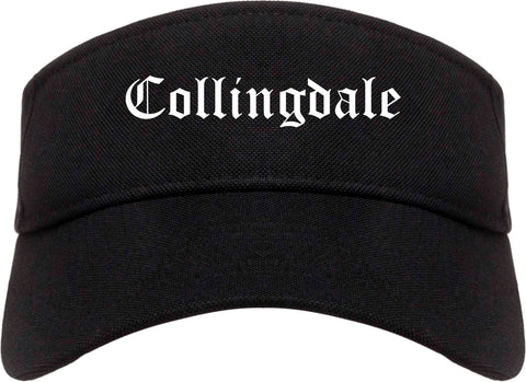 Collingdale Pennsylvania PA Old English Mens Visor Cap Hat Black