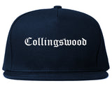 Collingswood New Jersey NJ Old English Mens Snapback Hat Navy Blue