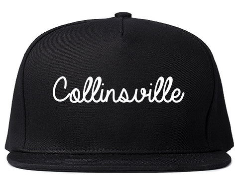 Collinsville Illinois IL Script Mens Snapback Hat Black