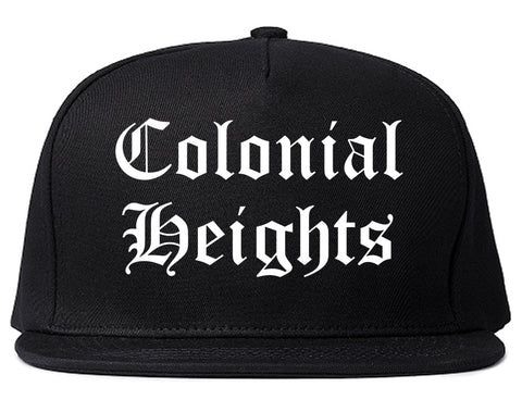 Colonial Heights Virginia VA Old English Mens Snapback Hat Black