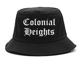 Colonial Heights Virginia VA Old English Mens Bucket Hat Black