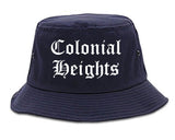 Colonial Heights Virginia VA Old English Mens Bucket Hat Navy Blue