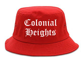 Colonial Heights Virginia VA Old English Mens Bucket Hat Red