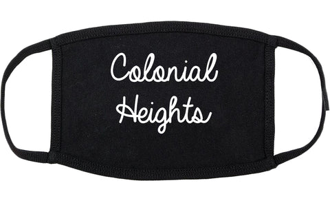 Colonial Heights Virginia VA Script Cotton Face Mask Black