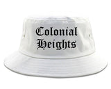 Colonial Heights Virginia VA Old English Mens Bucket Hat White