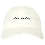 Colorado City Arizona AZ Old English Mens Dad Hat Baseball Cap White