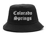 Colorado Springs Colorado CO Old English Mens Bucket Hat Black