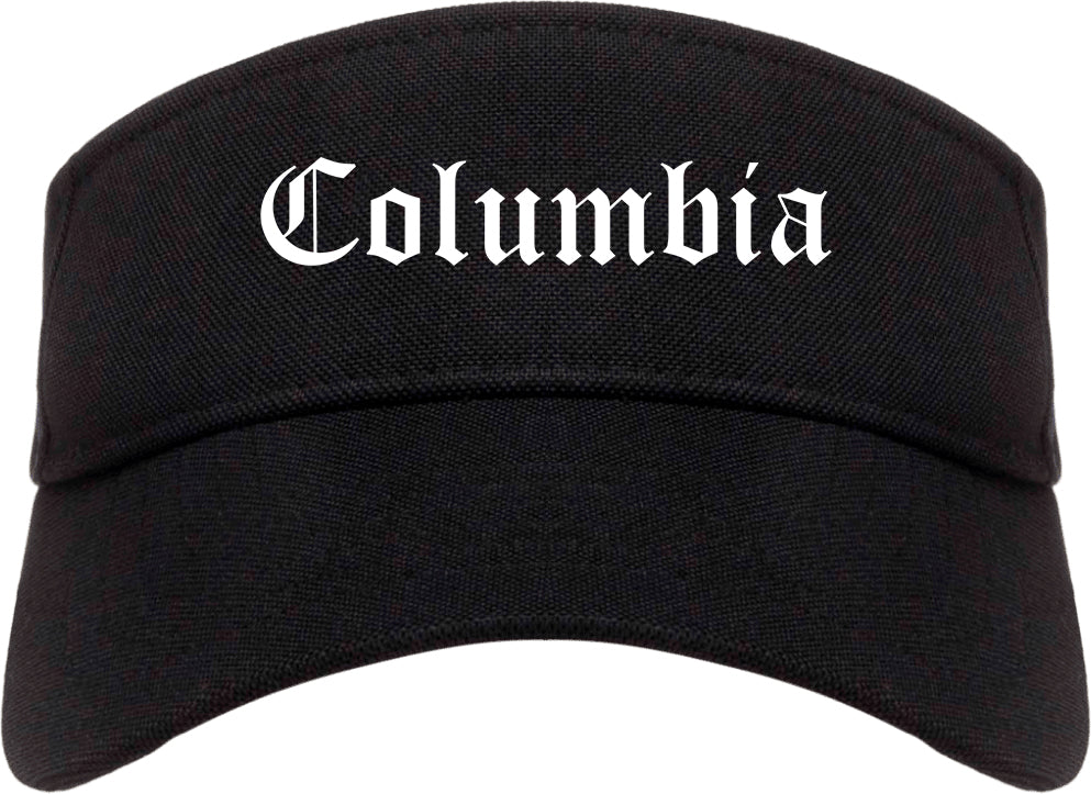 Columbia Tennessee TN Old English Mens Visor Cap Hat Black