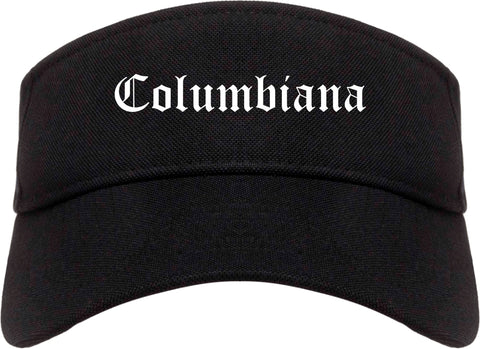 Columbiana Ohio OH Old English Mens Visor Cap Hat Black