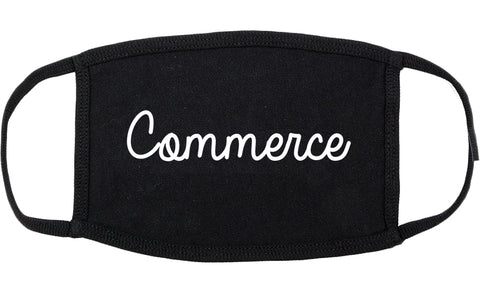 Commerce Georgia GA Script Cotton Face Mask Black
