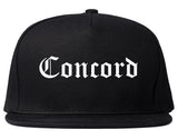 Concord North Carolina NC Old English Mens Snapback Hat Black