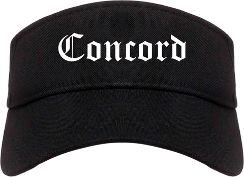 Concord North Carolina NC Old English Mens Visor Cap Hat Black
