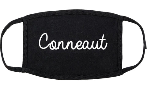 Conneaut Ohio OH Script Cotton Face Mask Black