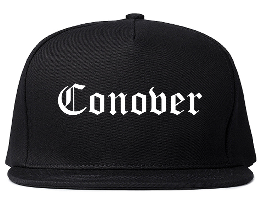 Conover North Carolina NC Old English Mens Snapback Hat Black