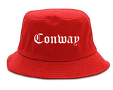 Conway Arkansas AR Old English Mens Bucket Hat Red