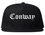 Conway South Carolina SC Old English Mens Snapback Hat Black