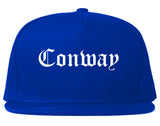 Conway South Carolina SC Old English Mens Snapback Hat Royal Blue