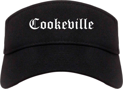 Cookeville Tennessee TN Old English Mens Visor Cap Hat Black