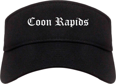 Coon Rapids Minnesota MN Old English Mens Visor Cap Hat Black