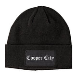 Cooper City Florida FL Old English Mens Knit Beanie Hat Cap Black