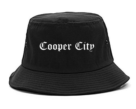 Cooper City Florida FL Old English Mens Bucket Hat Black