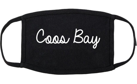Coos Bay Oregon OR Script Cotton Face Mask Black