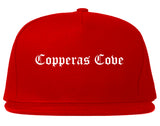 Copperas Cove Texas TX Old English Mens Snapback Hat Red
