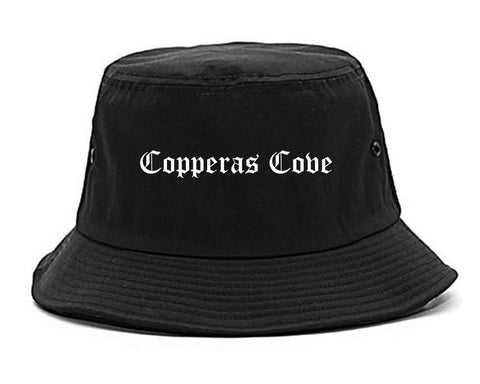 Copperas Cove Texas TX Old English Mens Bucket Hat Black