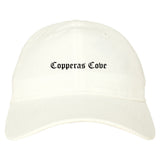Copperas Cove Texas TX Old English Mens Dad Hat Baseball Cap White
