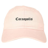 Coraopolis Pennsylvania PA Old English Mens Dad Hat Baseball Cap Pink