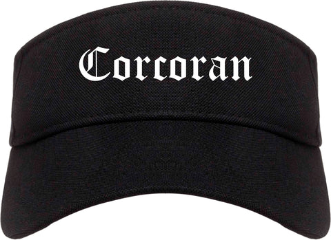 Corcoran California CA Old English Mens Visor Cap Hat Black