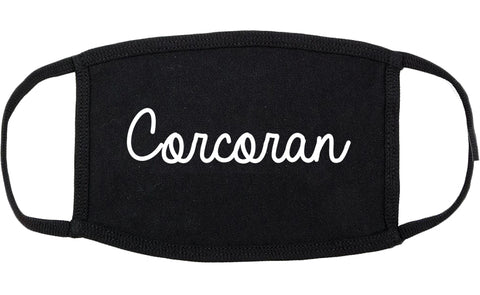 Corcoran Minnesota MN Script Cotton Face Mask Black