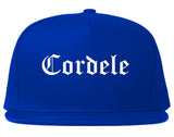 Cordele Georgia GA Old English Mens Snapback Hat Royal Blue