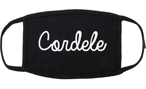 Cordele Georgia GA Script Cotton Face Mask Black