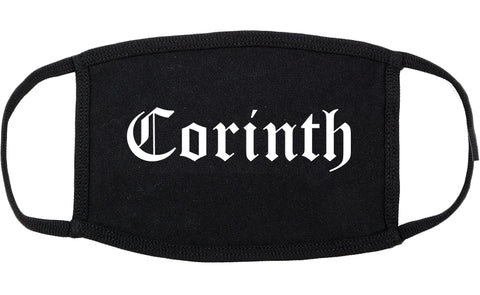 Corinth Mississippi MS Old English Cotton Face Mask Black
