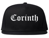 Corinth Mississippi MS Old English Mens Snapback Hat Black