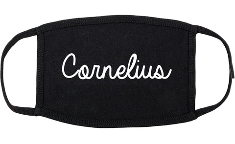 Cornelius North Carolina NC Script Cotton Face Mask Black