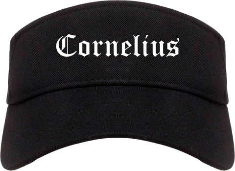 Cornelius Oregon OR Old English Mens Visor Cap Hat Black