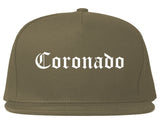 Coronado California CA Old English Mens Snapback Hat Grey