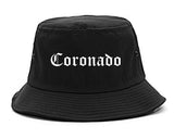 Coronado California CA Old English Mens Bucket Hat Black