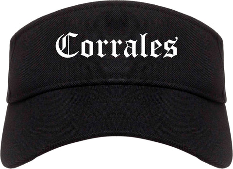 Corrales New Mexico NM Old English Mens Visor Cap Hat Black