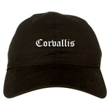 Corvallis Oregon OR Old English Mens Dad Hat Baseball Cap Black