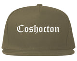 Coshocton Ohio OH Old English Mens Snapback Hat Grey