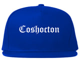 Coshocton Ohio OH Old English Mens Snapback Hat Royal Blue